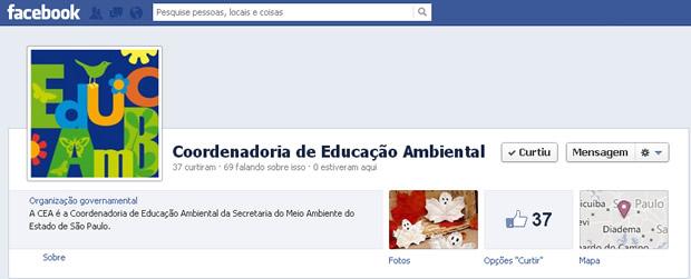 Coordenadoria de Educação Ambiental no Facebook!