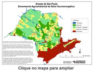 Zoneamento Agroambiental do Estado de São Paulo para o setor sucroenergético.