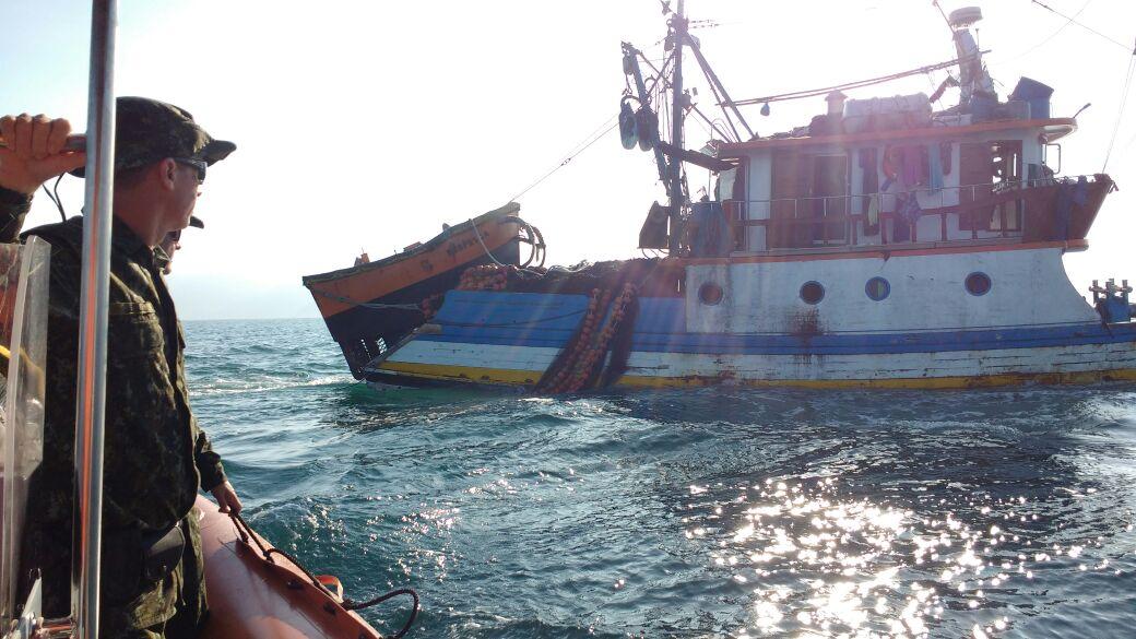 Operação conjunta combate pesca predatória no litoral norte de SP