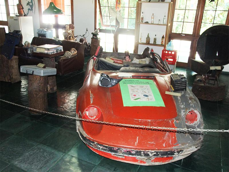 Parque tem museu que expõe lixo retirado da represa do Guarapiranga