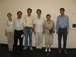 Da esquerda para a direita: Profa. Dra. Regina Maria de Moraes (IBt), Prof. Dr. Carlos Alberto Martinez y Huaman (FFCLRP-USP),  Prof. Dr. Emerson Alves da Silva (IBt-SMASP), o autor da tese, Profa. Dra. Sonia Machado Campos Dietrich (IBt) e Prof. Dr. Augusto Cesar Franco (ICB-UNB)