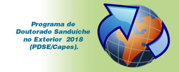 Programa De Doutorado Sandu Che No Exterior 2018 Pdse Capes Programa De P S Gradua O Em