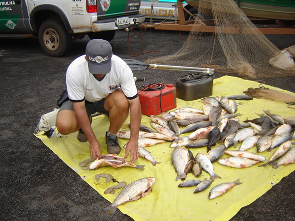 Polícia Ambiental surpreende pesca ilegal em período de piracema no Rio Grande