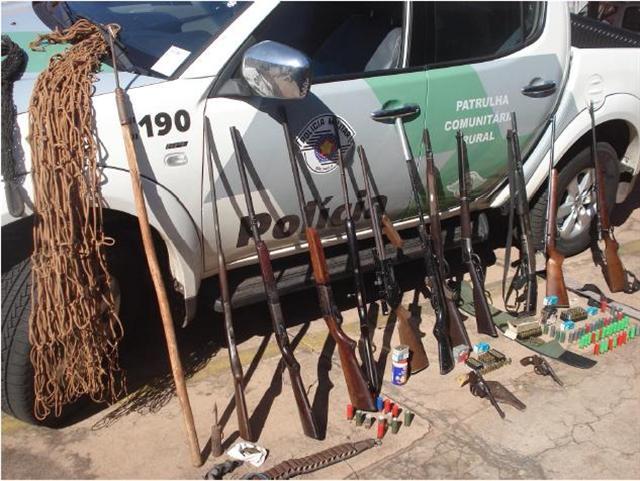 Polícia Ambiental apreende armas e munições em Cardoso
