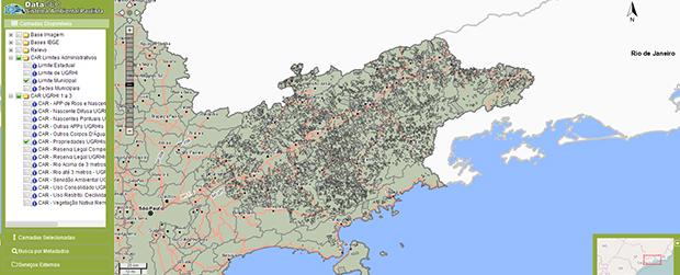 Dados públicos do SiCAR-SP são disponibilizados no Datageo