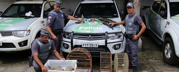Operação da Polícia Ambiental e Ibama faz apreensão em Ubatuba