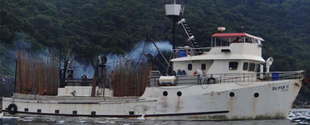 Embarcação de pesca industrial é apreendida no Litoral Norte