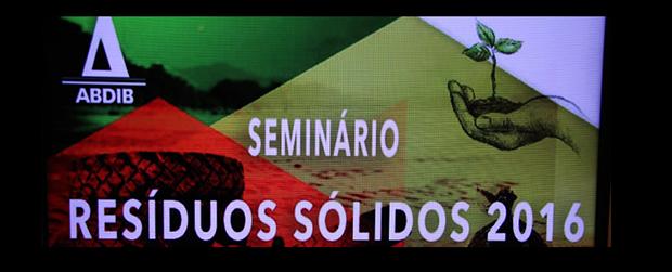 Seminário Resíduos Sólidos discute regras para a sustentabilidade do setor