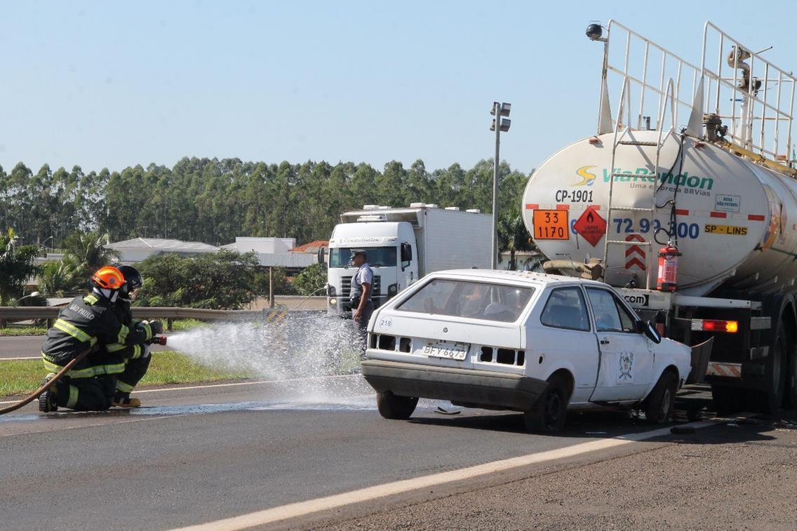 Simulado de acidente com caminhão de etanol para a Marechal Rondon