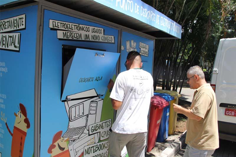 Empresa recolhe resíduos eletroeletrônicos do Sistema Ambiental